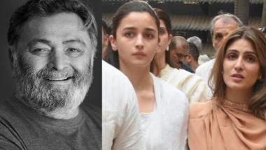 RIP Rishi Kapoor: ऋषि कपूर के निधन पर कपूर खानदान का साथ देने पहुंची रणबीर कपूर की गर्लफ्रेंड आलिया भट्ट, देखें Video