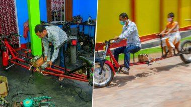 भारतीय मैकेनिक ने सोशल डिसटेंसिंग का पालन करने वाली बनाई इलेक्ट्रिक बाइक, देखें वीडियो