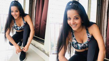 Monalisa Hot Photos: भोजपुरी एक्ट्रेस मोनालिसा ने लॉकडाउन में घर पर किया योग, शेयर की ये तस्वीरें
