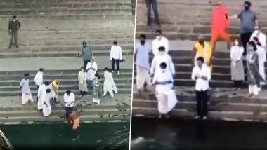 रणबीर ने पिता ऋषि कपूर की अस्थियां मुंबई के बाणगंगा तालाब में की विसर्जित- Video