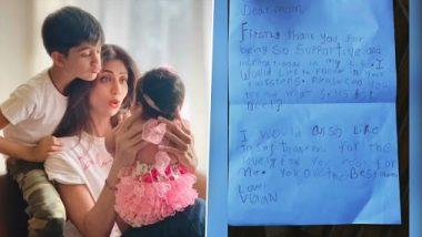 Mother's Day 2020: शिल्पा शेट्टी ने मदर्स डे पर शेयर किया अपने बेटे विवान कुंद्रा का प्यार भरा खत