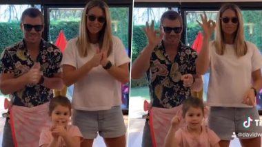 डेविड वार्नर ने अपनी पत्नी और बेटी के साथ किया जबरदस्त डांस, देखें वीडियो
