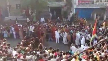मध्य प्रदेश: संत के स्वागत के लिए सागर में इकट्ठे हुए हजारों लोग, पुलिस ने दिया जांच का आदेश