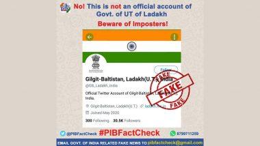 Fact Check: केंद्र शासित प्रदेश लद्दाख का ट्विटर हैंडल बदल कर हुआ गिलगिट-बाल्टिस्तान, लद्दाख (यूटी)? जानिए हकीकत