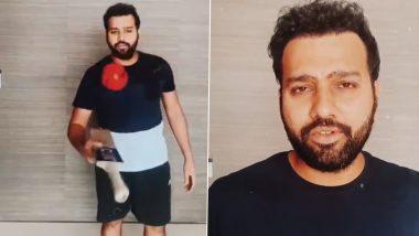 रोहित शर्मा ने युवराज सिंह का दिया हुआ चैलेंज पूरा किया, देखें वीडियो