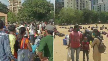 मुंबई के कांदिवली में उत्तर प्रदेश जाने के लिए जुटे थे सैकड़ों प्रवासी मजदूर, अंतिम समय में रद्द हुई दो ट्रेनें
