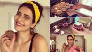 Lockdown 4.0: करिश्मा तन्ना लॉकडाउन में बना रही हैं खाना, कपकेक बनाकर शेयर किया ये Video