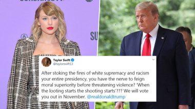 डोनाल्ड ट्रंप की अलोचना वाला टेलर स्विफ्ट का पोस्ट उनका सबसे ज्यादा लाइक किया जाने वाला ट्वीट बना