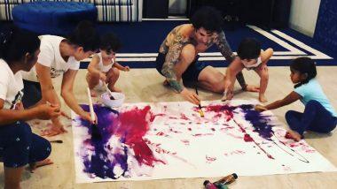 लॉकडाउन के बीच सनी लियोनी ने पति और बच्चों के साथ मिलकर बनाई ये खास पेंटिंग, वीडियो किया शेयर