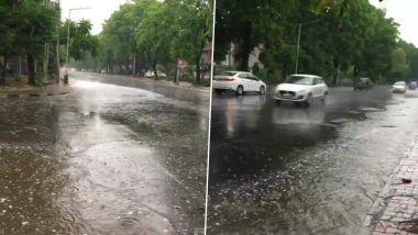 चंडीगढ़: शहर के कुछ हिस्सों में हुई बारिश से मौसम हुआ सुहाना