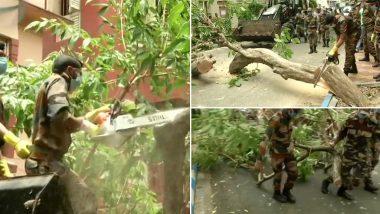 पश्चिम बंगाल में 'अम्फान' के जाने के बाद जिंदगी को पटरी पर लाने की कोशिश जारी, सेना भी जुटी