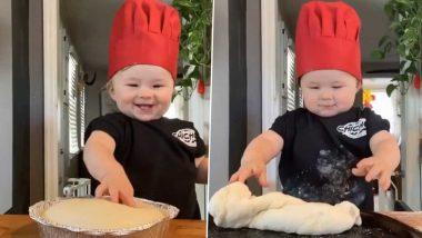 लॉकडाउन में खाना बनाते हुए 1 साल के बेबी शेफ का वीडियो हुआ वायरल, यूजर्स बोले- SO CUTE, आप भी देखें