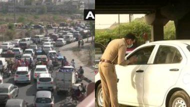 Delhi: राज्य में बढ़ते कोरोना मामलों के कारण दिल्ली-गाजियाबाद बॉर्डर सील, सड़कों पर लगा ट्रैफिक जाम