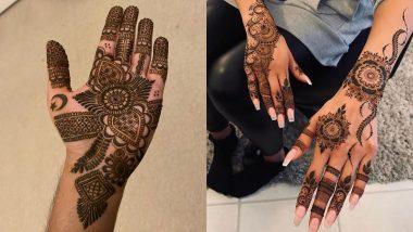 Bakrid 2020 Latest and Beautiful Mehndi Designs: बकरीद के इस खास पर्व पर अपने हाथों-पैरों में लगाएं यह खूबसूरत मेहंदी, देखें ईद-उल-अजहा के लिए लेटेस्ट औए आसान डिजाइन्स