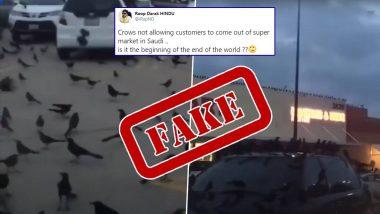 Fact Check about Crows Attack At Supermarket in Saudi: क्या सऊदी में सुपरमार्केट पर कौओं का हमला दुनिया के अंत की है शुरुआत? जानें इस दावे के साथ वायरल हुए वीडियो का सच