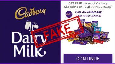 Fact Check: अपनी 196वीं वर्षगांठ पर कैडबरी कंपनी हर किसी को 500 चॉकलेट वाला बास्केट दे रही है फ्री? जानें इस वायरस मैसेज की सच्चाई