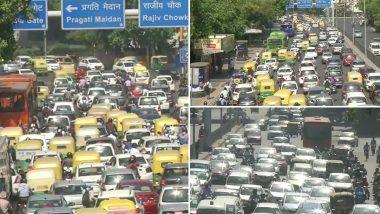 Delhi Traffic Update: लॉकडाउन 4.0 में दी गई छूट की वजह से दिल्ली के कई इलाकों में लगा लंबा ट्रैफिक जाम, कालिंदी कुंज और आईटीओ में थमी गाड़ियों की रफ्तार; देखें तस्वीरें