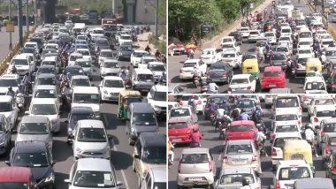 लॉकडाउन 4.0: दिल्ली के गाजीपुर-कालिंदी कुंज में लगा भारी ट्रैफिक जाम, देखें तस्वीरें