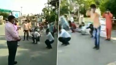 कोरोना संकट: मुरादाबाद में लॉकडाउन के नियम तोड़ने पर पुलिस ने लोगो से कान पकड़कर करवाई उठक-बैठक, देखें वीडियो