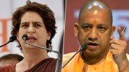 प्रियंका गांधी का योगी सरकार पर हमला, बोली- अपराध में UP पूरे देश में टॉप पर है, एक हफ्ते में हुईं करीब 50 हत्याएं