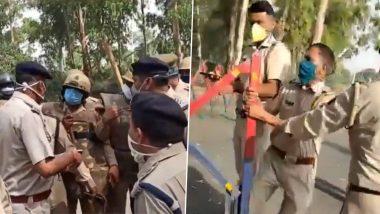 प्रवासी मजदूरों की एंट्री को लेकर यूपी और राजस्थान पुलिस में भिड़ंत, 2 दारोगा घायल, देंखें VIDEO