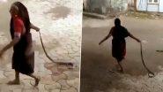 Cobra Viral Video: बहादुर बुजुर्ग महिला ने  कोबरा सांप को रस्सी की तरह पकड़ कर फेंका घर से दूर, हिम्मत की सब दे रहे हैं दाद