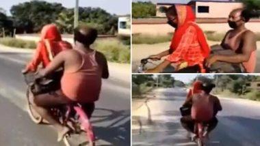 गुरुग्राम से अपने घायल पिता को साइकिल पर बैठा 15 वर्षीय लड़की बिहार के दरभंगा पहुंची, लॉकडाउन के चलते 1200 किलोमीटर का सफर किया तय
