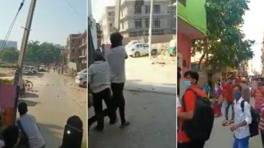 दिल्ली-गुरुग्राम बॉर्डर पर हंगामा, लोगों ने पुलिस के उपर किए पथराव, देखें वीडियो