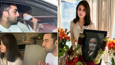 ऋषि कपूर की तेरहवीं की पूजा में पहुंची बेटे रणबीर कपूर की गर्लफ्रेंड आलिया भट्ट, देखें ये Inside Photos