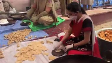 हरयाणवी डांसर सपना चौधरी ने नजफगढ़ पुलिस के साथ मिलकर जरुरतमंदों के लिए बनाया खाना, देखें Video