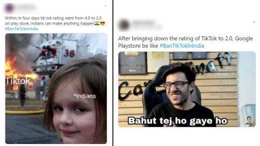 TikTok vs YouTube: टिकटॉक की रेटिंग धड़ाम, गूगल प्ले स्टोर में 4.0 से पहुंची 2.0 पर, #BANTIKTOK भी हो रहा ट्रेंड