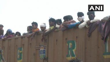 नागपुर: ट्रकों पर सवार होकर अपने घरों के लिए निकले प्रवासी मजदूर, बोले- ट्रेन के लिए फार्म भरे, जनसुनवाई ऐप पर गए, लेकिन नहीं मिली मदद