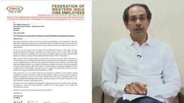 FWICE ने महाराष्ट्र के मुख्यमंत्री उद्धव ठाकरे को खत लिखकर पोस्ट प्रोडक्शन का काम शुरू करने की मांगी इजाजत