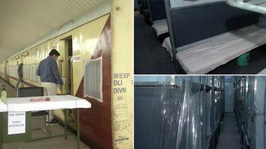 कोरोना से जंग: दिल्ली के शकूरबस्ती रेलवे स्टेशन पर तैनात हुई 10 आइसोलेशन कोच