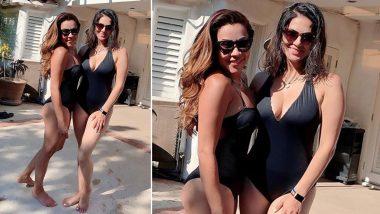 सनी लियोन ने स्विम सूट पहनकर सहेली के साथ पोस्ट की Hot Photo, सेक्सी अंदाज से पानी में लगाई आग