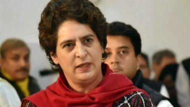 कांग्रेस ने प्रियंका गांधी वाड्रा को आवास खाली करने का नोटिस भेजे जाने की निंदा की