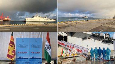 श्रीलंका में फसें भारतीय नागरिकों को वापस लाने के लिए कोलंबो पहुंचा आईएनएस जलाशय