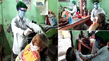 उत्तर प्रदेश: राज्य सरकार द्वारा अनुमति मिलने के बाद मुरादाबाद में खुले सैलून और ब्यूटी पार्लर