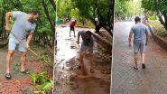 सलमान खान और यूलिया वंतूर ने स्वच्छ भारत अभियान पर जोर देते हुए अपने पनवेल फार्महाउस पर लगाया झाडू