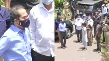 महाराष्ट्र: नाव से चक्रवात 'निसर्ग' प्रभावित रायगढ़ का जायजा लेने पहुंचे सीएम उद्धव ठाकरे