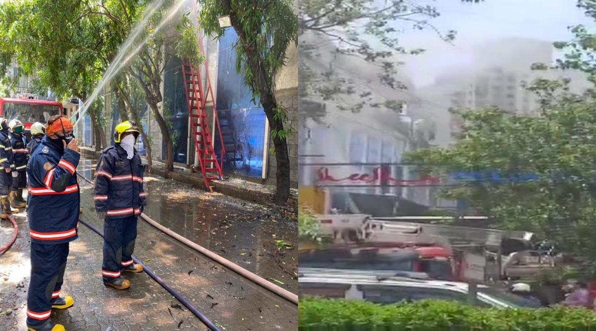 मुंबई: लोवर परेल इलाके के रघुवंशी मिल्स की एक इमारत लगी आग, घटना स्थल पर 8 फायर टेंडर मौजूद