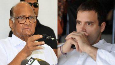 NCP प्रमुख शरद पवार ने राहुल गांधी से किया आग्रह, कहा- राष्ट्रीय सुरक्षा के मुद्दे का राजनीतिकरण न करें