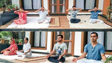 Happy Yoga Day 2020: CM शिवराज सिंह चौहान ने अपने परिवार संग किया योग, कहा- कोरोना काल में योगा का महत्व और बढ़ा