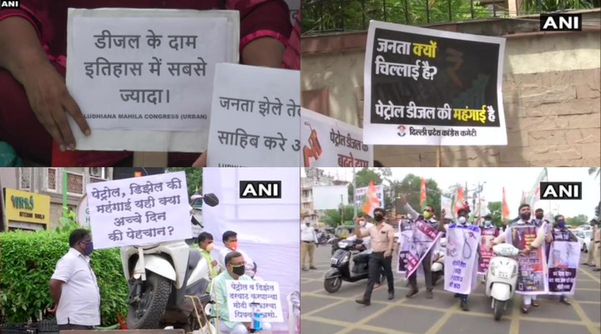 Congress Protest over Petrol-Diesel Price: ईंधन की बढ़ती कीमतों के खिलाफ कांग्रेस का राष्ट्रव्यापी विरोध प्रदर्शन