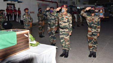 लद्दाख में सड़क निर्माण के दौरान शहीद हुए नायक सचिन मोरे को सेना ने दी श्रद्धांजलि, अपने साथियों को बचाने के दौरान गंवाई खुद की जान
