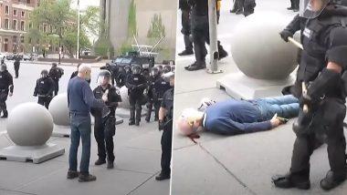 जॉर्ज फ्लॉयड की मौत को लेकर विरोध प्रदर्शन, पुलिस के धक्के से 75 साल के शख्स का फटा सिर, हालात गंभीर- VIDEO वायरल होने पर दो पुलिस वाले निलंबित