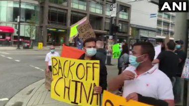 Protest Against China: कनाडा के वैंकूवर में भारतीयों ने चीनी दूतावास के बाहर किया विरोध प्रदर्शन, चीन को बताया विश्व का सबसे बड़ा भूमाफिया