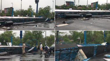 Delhi Rains Update: दिल्ली-एनसीआर में तेज आंधी और बारिश से डीएनडी पर साइनबोर्ड गिरने से सड़क बंद