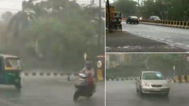 Delhi Rains Update: दिल्ली-एनसीआरमें आंधी-तूफान के साथ तेज बारिश, देखें वीडियो