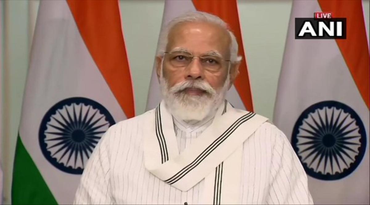 पीएम मोदी ने रिमोट दबाकर 'आत्मनिर्भर उत्तर प्रदेश रोजगार अभियान' का किया शुभारंभ, लाखों लोगों को मिलेगी रोजगार